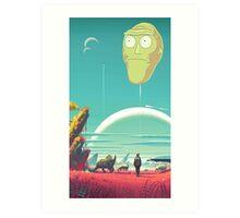 Rick and morty Art Print