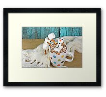 Hot Chocolate and Snowmen Framed Print