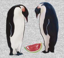 Watermelon Penguin Parents One Piece - Long Sleeve