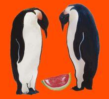 Watermelon Penguin Parents Kids Tee