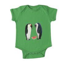 Watermelon Penguin Parents One Piece - Short Sleeve