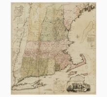 American Revolutionary War Era Maps 1750-1786 101 A map of the most inhabited part of New England containing the provinces of Massachusets Bay and New One Piece - Short Sleeve