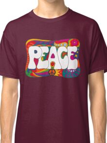 Psychedelic Peace and Love Classic T-Shirt