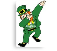 Dabbin' Leprechaun Canvas Print