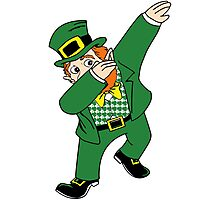 Dabbin' Leprechaun Photographic Print