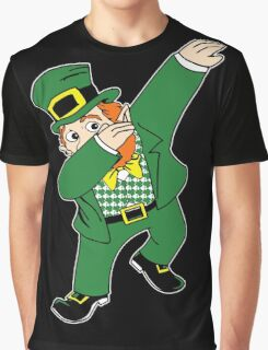 Dabbin' Leprechaun Graphic T-Shirt