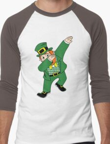 Dabbin' Leprechaun Men's Baseball ¾ T-Shirt