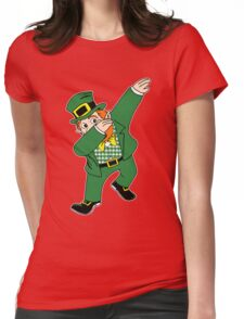 Dabbin' Leprechaun Womens Fitted T-Shirt