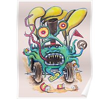 Aussie Road Rage Hoon Monster Poster