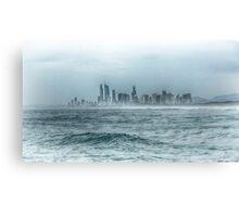 Surfers Paradise, Gold Coast - Hued Monochrome Canvas Print