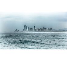 Surfers Paradise, Gold Coast - Hued Monochrome Photographic Print