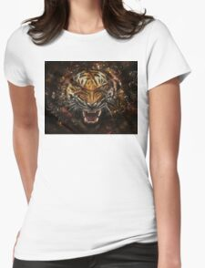 cats tiger Womens Fitted T-Shirt