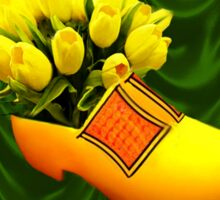 TULIPS IN DUTCH SHOE -- VARIOUS APPAREL Sticker