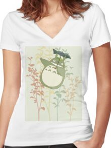 hayao Women's Fitted V-Neck T-Shirt