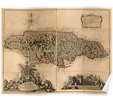 American Revolutionary War Era Maps 1750-1786 965 This map of the island of Jamaica Poster