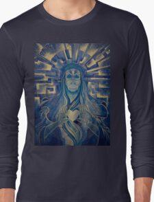 Blue Madonna Long Sleeve T-Shirt