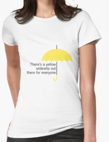 Yellow Umbrella Womens Fitted T-Shirt