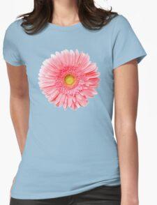 Flower Power, Pink Fresh Gerbera Womens Fitted T-Shirt