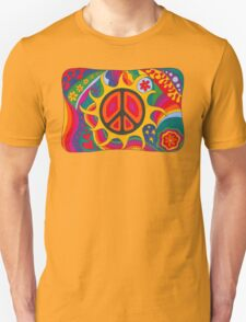 Psychedelic Flaming Peace Unisex T-Shirt