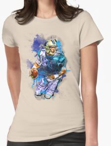 Cam Newton Splash Color Womens Fitted T-Shirt