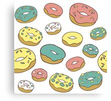 Pattern with donuts Canvas Print