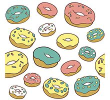 Pattern with donuts Photographic Print