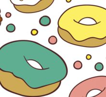 Pattern with donuts Sticker