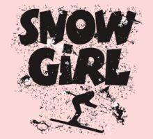 Snowgirl Ski Retro Baby Tee