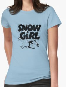 Snowgirl Ski Retro Womens Fitted T-Shirt