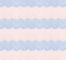 Rose Quartz and Serenity Faux Lace by Gravityx9