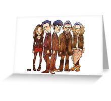 doctor who 50th anniversary Greeting Card