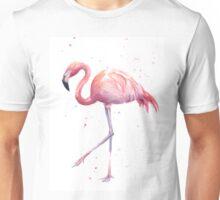 Flamingo Watercolor Painting Unisex T-Shirt