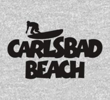 Carlsbad Beach Surfing One Piece - Long Sleeve