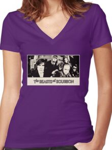 Beasts of Bourbon Women's Fitted V-Neck T-Shirt