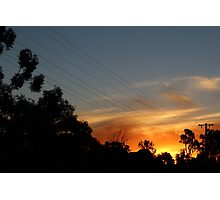 Sunset in Katunga Photographic Print