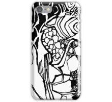 Ornament black white  leaves. iPhone Case/Skin