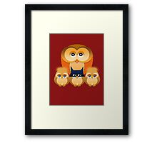 THE OWL FAMILY Framed Print