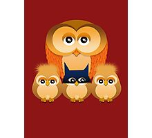THE OWL FAMILY Photographic Print