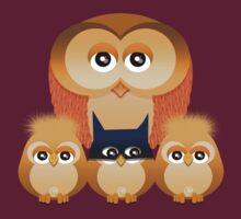 THE OWL FAMILY by peter chebatte