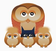 THE OWL FAMILY Kids Tee