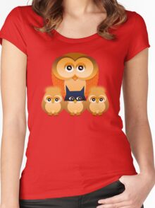 THE OWL FAMILY Women's Fitted Scoop T-Shirt