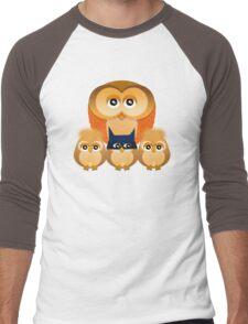 THE OWL FAMILY Men's Baseball ¾ T-Shirt