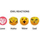 Owl reactions by Redilion