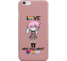 Love who you want iPhone Case/Skin