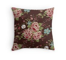 Vintage floral cute wallpaper  Throw Pillow