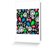 Amazing template design on diamonds background.  Greeting Card