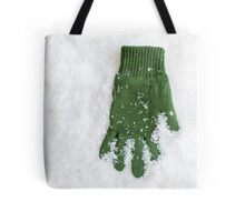 Glove Laying in Snow Tote Bag