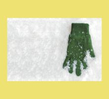 Glove Laying in Snow One Piece - Short Sleeve
