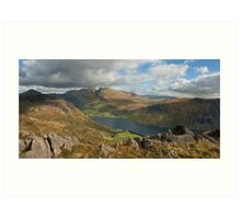 Wastwater and Scafell Pike Art Print