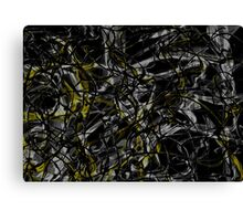 Gold and silver web Canvas Print